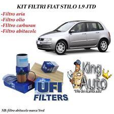 KIT TAGLIANDO FILTRI UFI FIAT STILO 1.9 JTD 1900 DIESEL