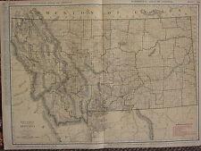 1922 LARGE AMERICA MAP ~ MONTANA RAILROADS CITIES YELLOWSTONE RAND MCNALLY