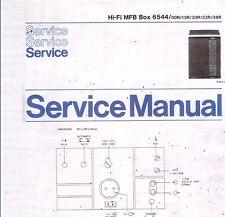 Philips Service Manual für HiFi MFB Box 6544  Copy