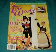 BUY 4=FREE SHIPPING Tole World Painting magazine book October 1997 Holiday