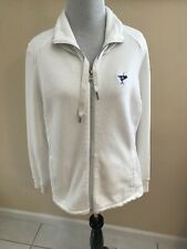 Ralph Lauren White Front Zip Sweater Polo Golf Ocean Reef Florida Sz L