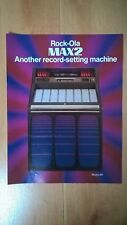 Rockola 481 Max 2 Vinyl Jukebox Sales Brochure / Flyer / Pamphlet
