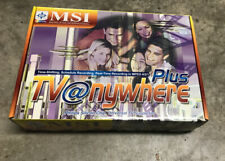 New MSI TV@anywhere Plus PCI TV Tuner& Capture/Recording Card W/Remote MPEG