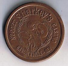 Sharkey's Nugget $1.00 Bronze Gaming Token Gardnerville Nevada 1979