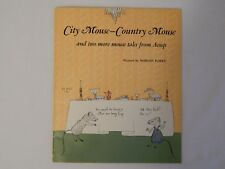 City Mouse-Country Mouse Scholastic Record And Book Ex Condition First Edition