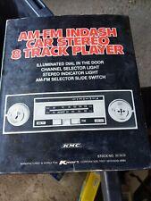 New Vintage Amfm Indash Car Stereo Eight 8 Track Player Kmart 82 3019 C8jj