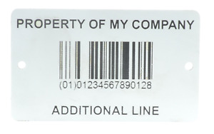 Heavy Duty High Contrast White Customisable Asset Tag