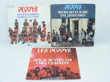 Les POPPYS Lot de 3 disques 45 tours disc 45T Non rien n'a changé Isabelle...