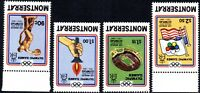 1984 Montserrat Sg 595w/509w Olympic Games Set Inverted Watermark Unmounted Mint