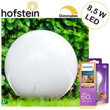Wege Außen Steh Lampen mit 1 Philips LED 8,5W Birne Garten Kugel Leuchten Ø50cm