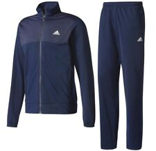 Men's adidas Full Tracksuit Jogging Bottoms Zip Jacket Track Top - Navy Blue 2xl