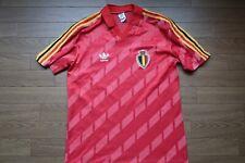 Belgium 100% Original Soccer Jersey Shirt M 1986 USED Fair Condition [1052]