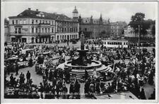 ELBING Elbląg: Friedrich Wilhelm Platz mit Marktleben, AK um 1936