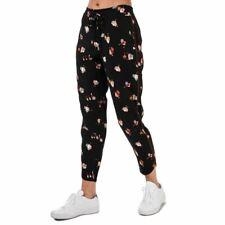 Para mujer Ted Baker flisie Floral Estampado Jog Pantalones en Negro