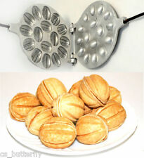 Form for 16 baking nut Aluminium Oreshnitsa Sweet Russian Pastry Cookie Nutlets