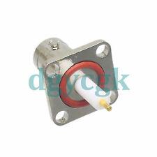 2pcs connector BNC female jack 4-hole flange solder PTFE cup deck O-ring mount F