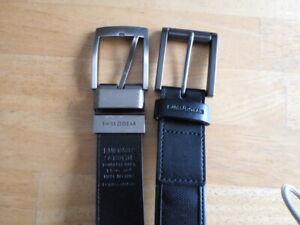 SWISS GEAR Men's Black Genuine Leather Belt Buckle Sizes 36, size 38 lot of 2