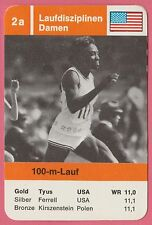 Vintage German Trade Card 1968 Olympics 100m Gold Medal Winner Wyomia Tyus USA