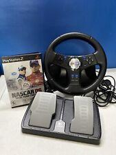 Sony PlayStation 2 PS2 Logitech NASCAR Steering Wheel