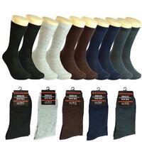 12 Pairs Men Plain Colors Cotton Fashion Casual Mid Calf Dress Socks Size 10-13