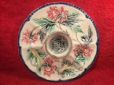 Antique Majolica Oyster Plate c.1890-1900, op399  ANTIQUE GIFT QUALITY!!