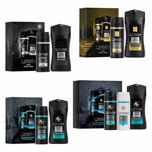 Lynx Mens Gift Sets Christmas Black Gold Body Spray Wash Deodorant Bath Shower