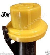 3 X Blitz Yellow Spout Cap Fits Self Venting Gas Can Spouts 900302 900092 900094