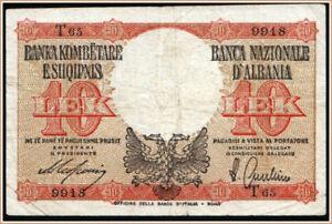 Albania 10 Lek 1940 Pick 11