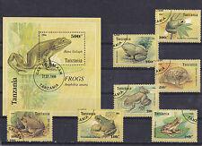 Tanzania 1996 - Block + Set - Dieren/Animals/Tiere (Kikkers/Frogs)