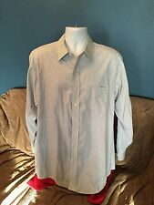 Brooks Brothers 346 Classic Non-Iron Blue Striped Dress Shirt 17 4/5 Long Sleeve