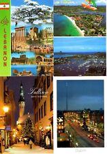 4 new postcards from - LEBANON - ST. LUCIA - ESTONIA - IRELAND
