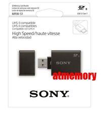Sony SD SDHC SDXC High Speed Card Reader MRW-S1 UHS-II USB3.1 Genuine