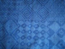 """BLUE MULTI PATTERN CURTAINING MATERIAL.16 x  4"""" squares .New"""