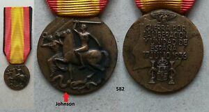 Medaglia Guerra di Spagna Johnson 582