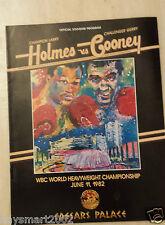 1982 programma PUGILATO WBC CAMPIONATO pesi massimi-Larry Holmes V Gerry Cooney