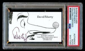David Feherty signed autograph Business Card Golfer & Broadcaster PSA Slabbed