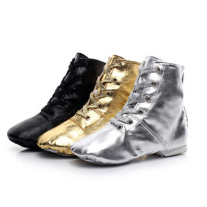 High Top Jazz Practice Dance Shoes Boots Modern Latin Women Men Kids Children