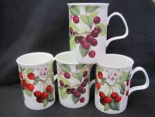 "Cherry ""Four"" Fine Bone China mugs,New Design Made In England Roy Kirkham 10oz"