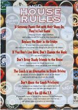 """House Rules"", Funny Tin Sign,  gift for Christmas , Halloween , College , New"