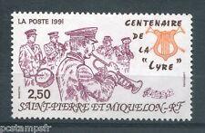 ST-PIERRE-et-MIQUELON, 1991, timbre 545, MUSIQUECENTENAIRE de la LYRE, neuf**
