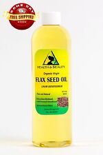 FLAX SEED OIL ORGANIC CARRIER VIRGIN COLD PRESSED PURE 24 OZ