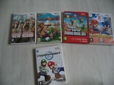 LOT 5 JEUX NINTENDO WII WII U PAL FRANÇAIS SUPER MARIO BROS+MARIOKART+PARTY 8