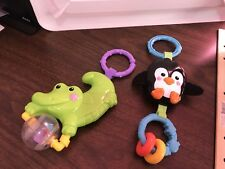 Fisher Price Precious Planets Replacement Activity Gym Toys Penguin & Alligator