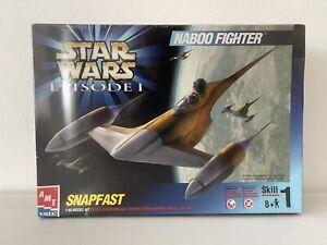 New Sealed AMT Star Wars 1/48 Naboo Fighter Snapfast Model Kit