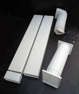 LA CUCINA Abluftset 125er Lüftungstechnik für Dunstabzüge, Mauerkasten + Kanäle
