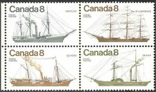 Canada 1975 Ships/Boats/Sailing/Steam/Paddle Steamer/Transport 4v blk (n19643)