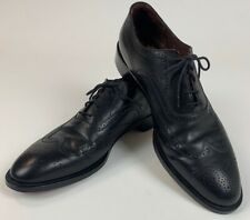 E.T. Wright Mens Shoes Black Wingtips Dress Shoes Made In Italy Size 10.5 A