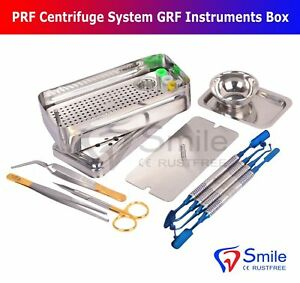 German Dental PRF Centrifuge System GRF Instruments Box Set Implant Surgery Kit