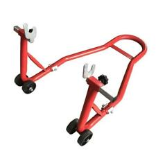 Motorcycle Bike Stand Rear Forklift Swingarm Lift Universal Adjustable Tire Red