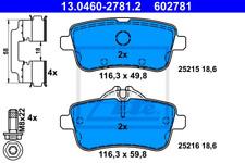 Bremsbelagsatz, Scheibenbremse für Bremsanlage Hinterachse ATE 13.0460-2781.2